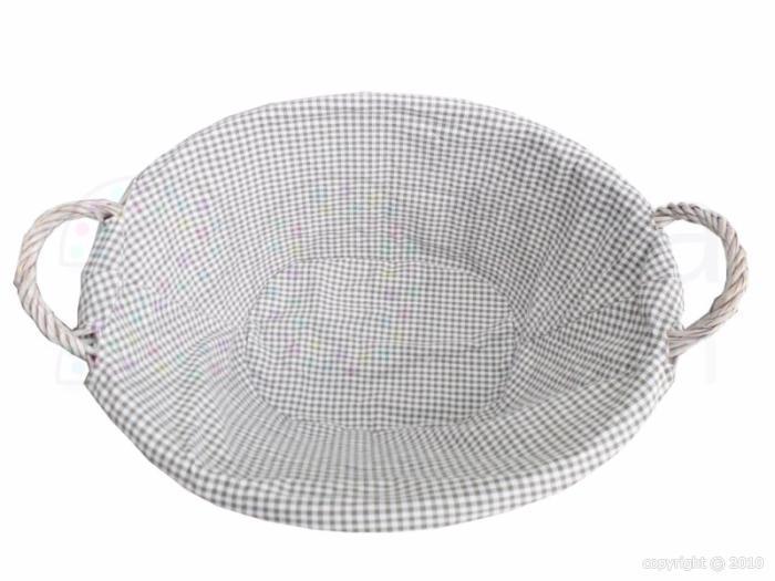 Corbeille linge en osier gris 46x34x60cm corbeille - Corbeille a linge osier ...