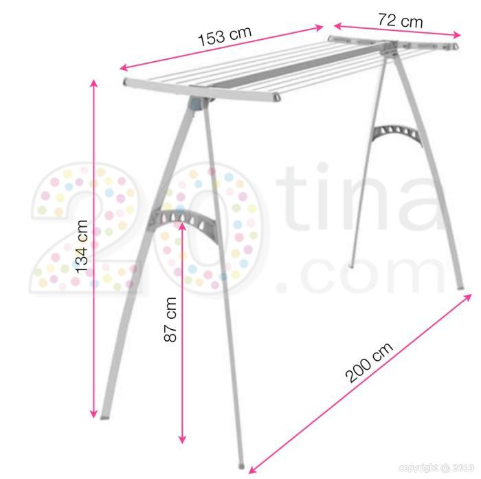 poteaux linge pour terrasse balcon ou grenier porty existe en 2 tailles 120 ou 170 ex016. Black Bedroom Furniture Sets. Home Design Ideas