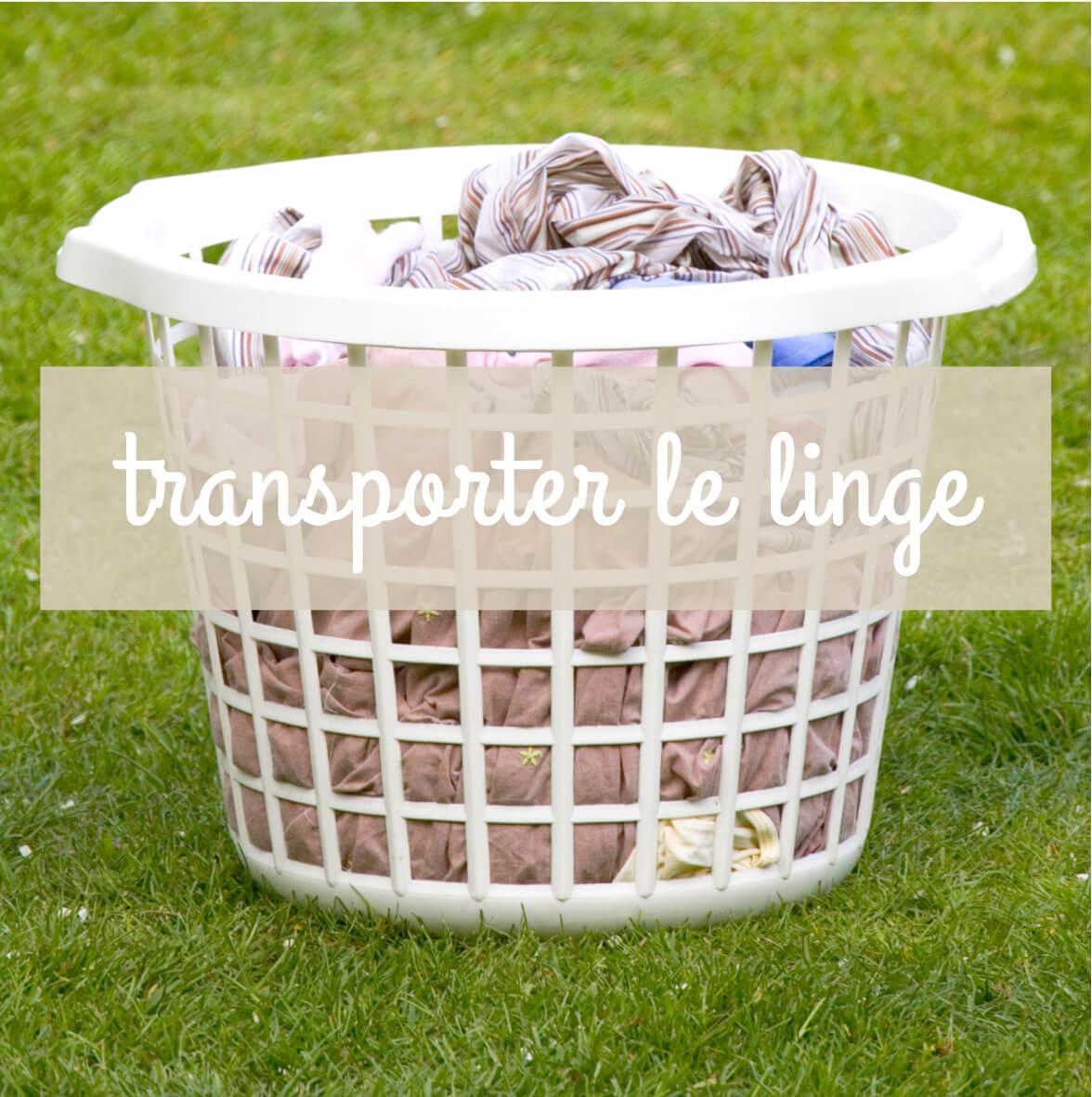 grand choix de paniers et bassines pour le linge propre