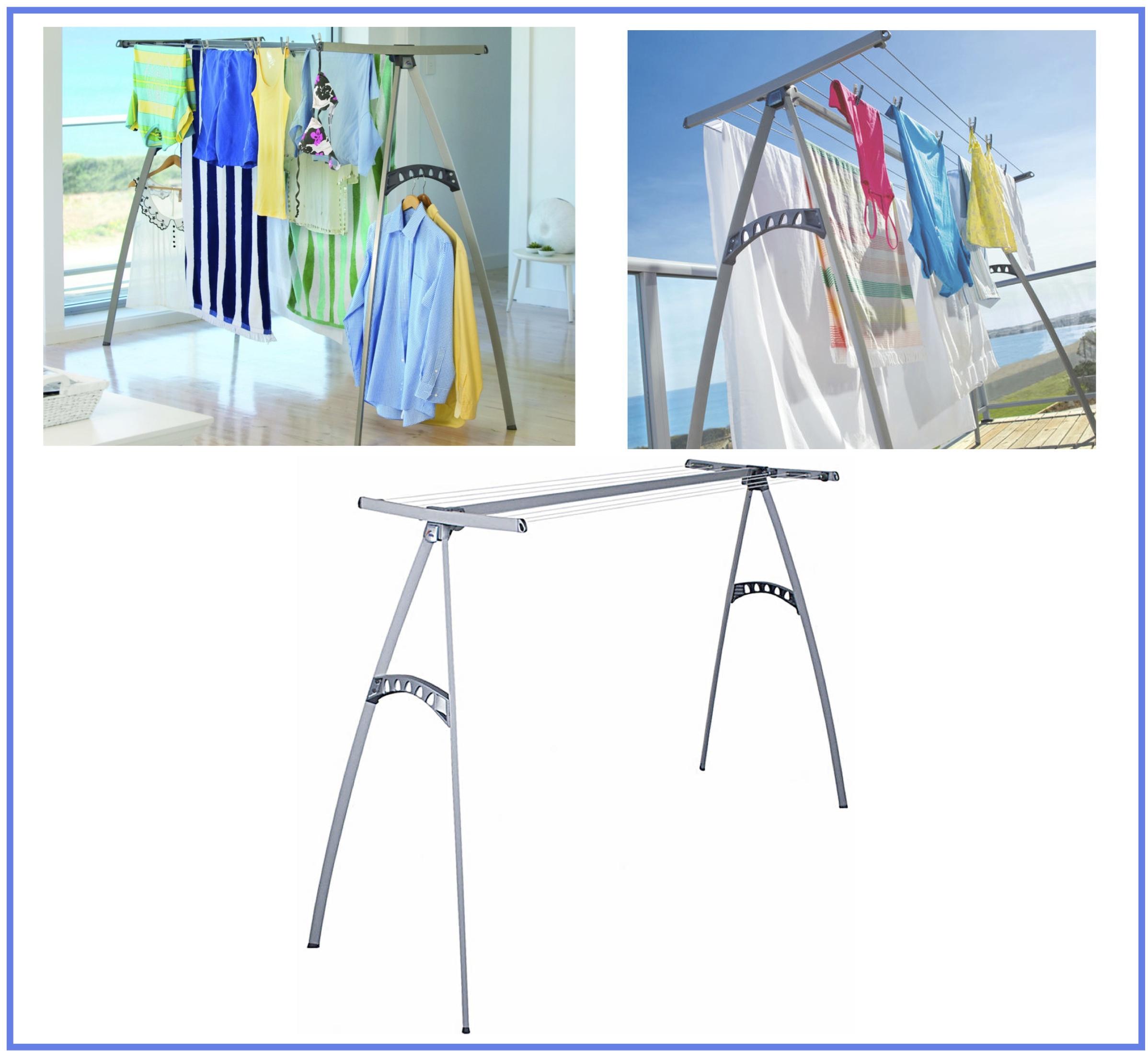 Poteaux à linge pour terrasse ou grenier